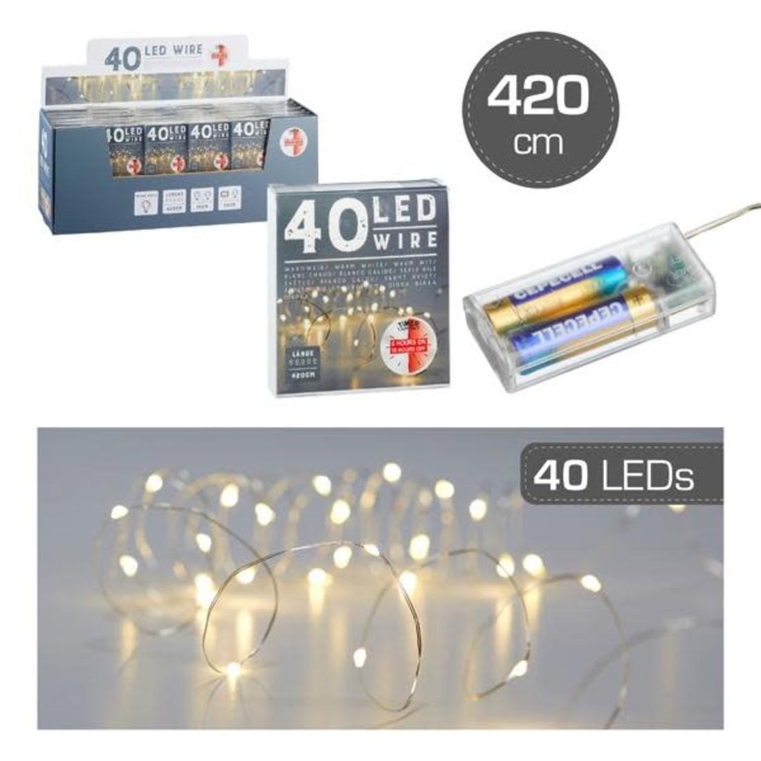 Lichterkette Micro LED Silberdraht