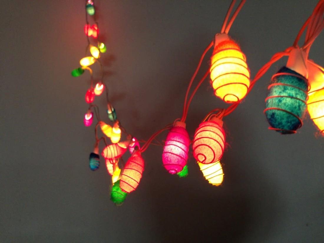 Lichterkette  «Cocoon Regenbogen»