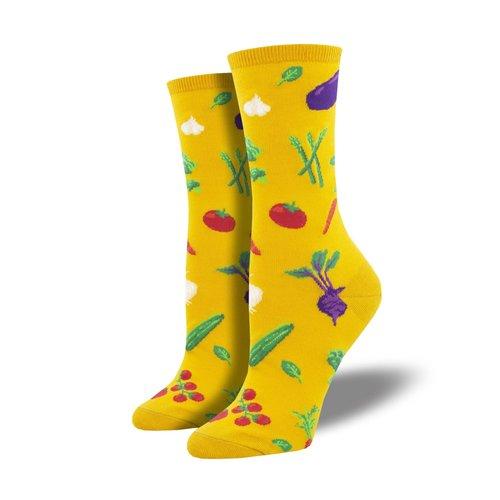 Damensocken «Veggie Might Yellow»