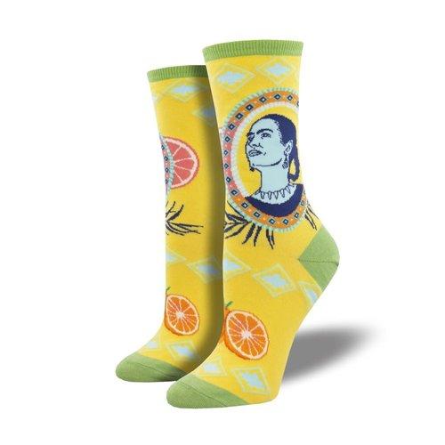 Damensocken «Frida Orange Yellow»