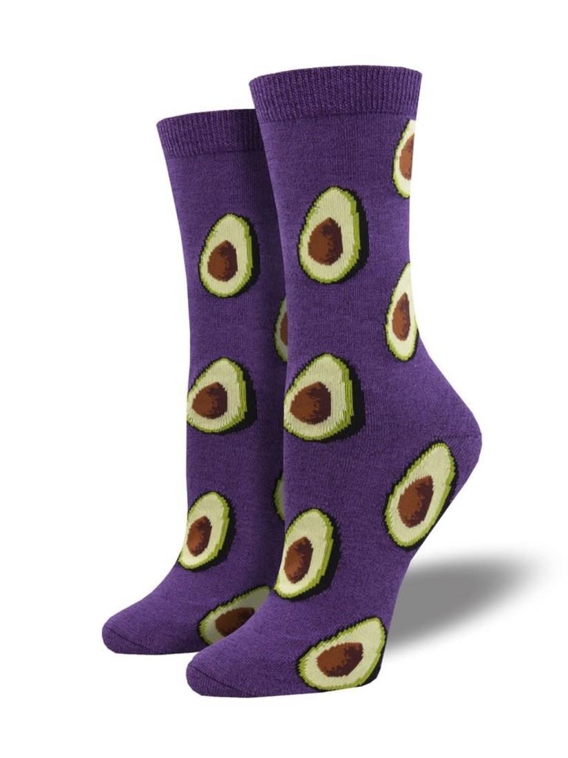 Socksmith Damensocken «Let's Guac About It Purple»