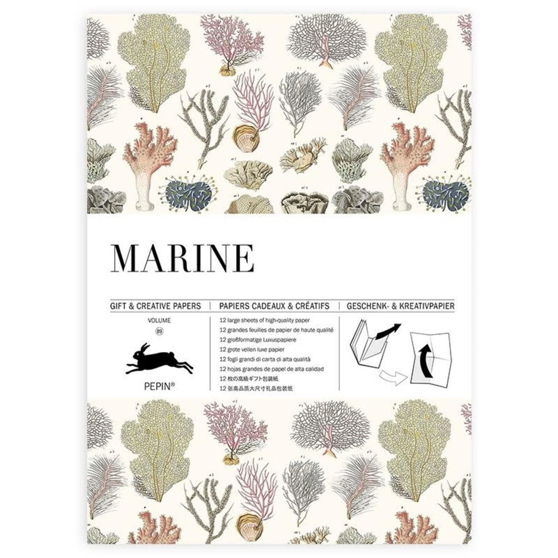 Pepin Geschenkpapier «Marine»