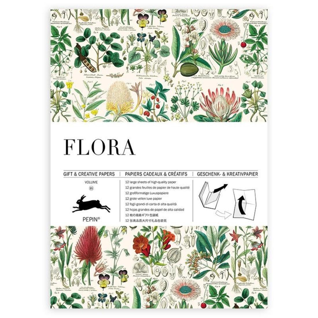Pepin Geschenkpapier «Flora»