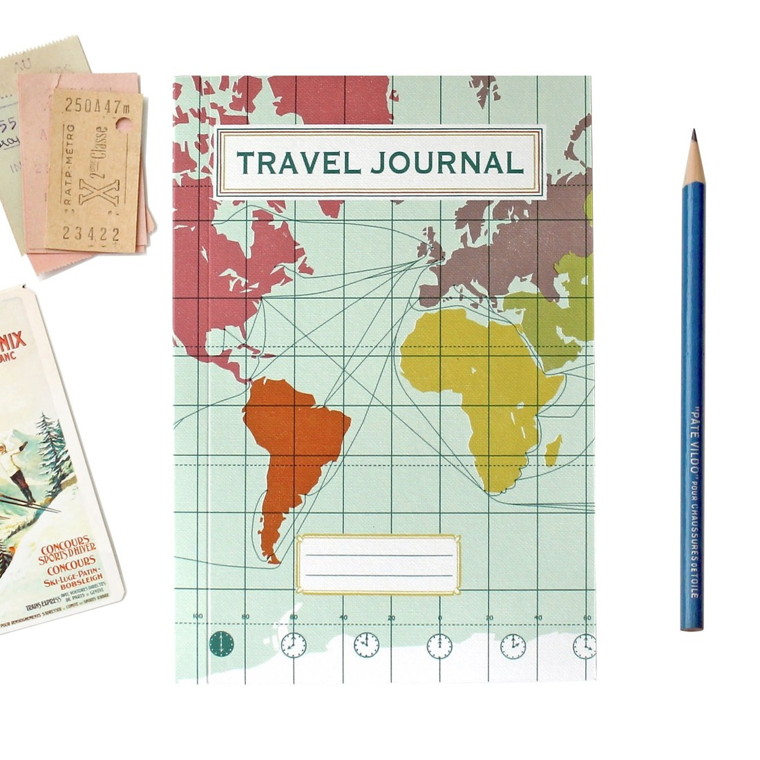 Reisetagebuch  «World Map Light Blue»