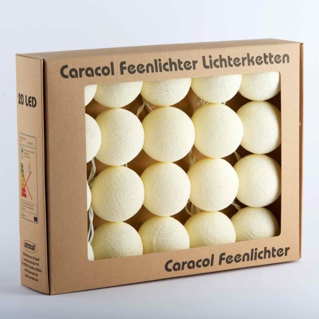 Caracol Lichterkette «Baumwollball»