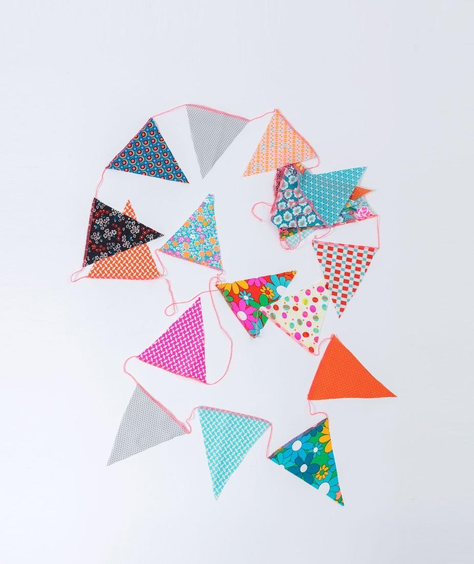 Petit Pan Stoff Girlande mini Dreiecke 6m