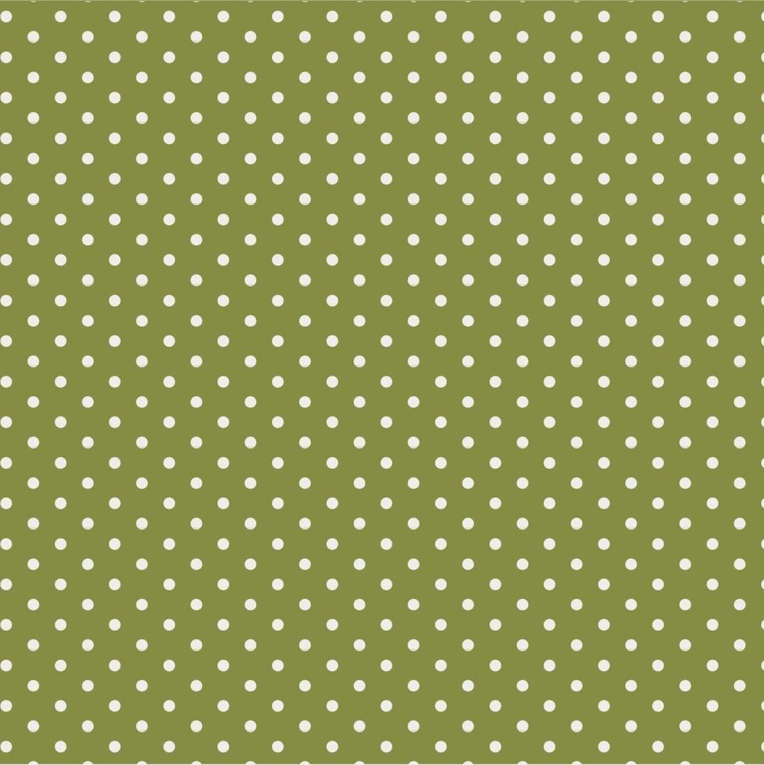 Papierservietten grün mit weissen Punkten