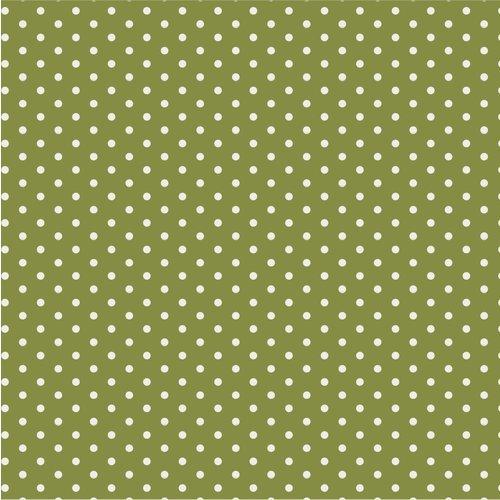 Papierservietten grün mit Punkten
