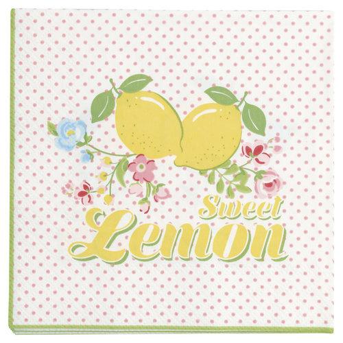 Papierservietten Zitrone