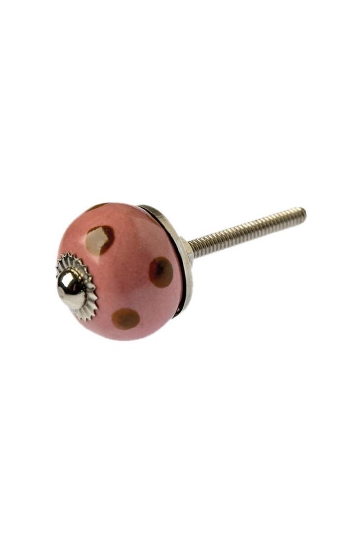 Tranquillo Knauf rosa mit roten Punkte