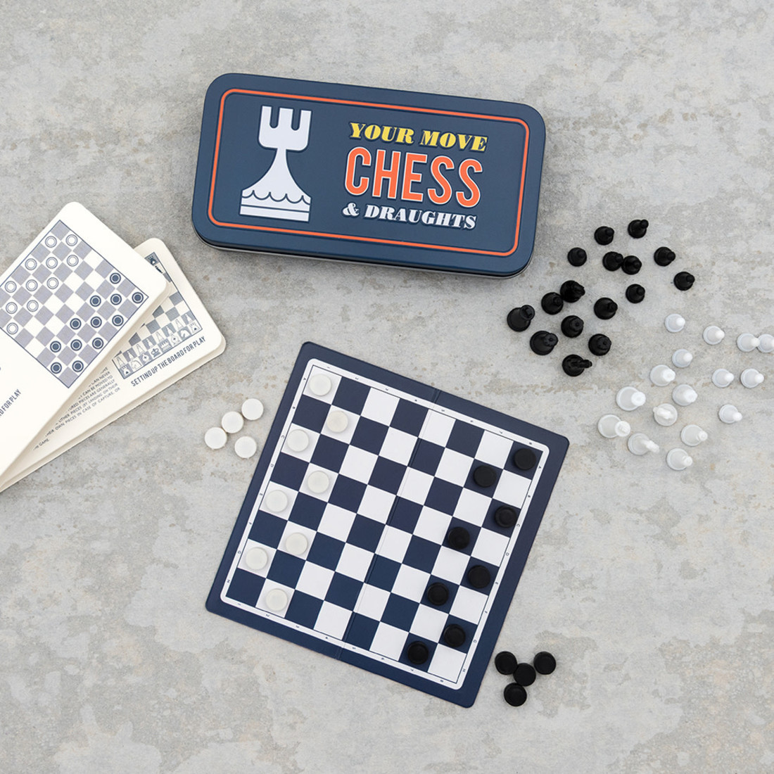 Rex International Travel Chess & Draughts Game