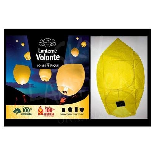 Sky Lantern Himmelslaterne Oval gelb