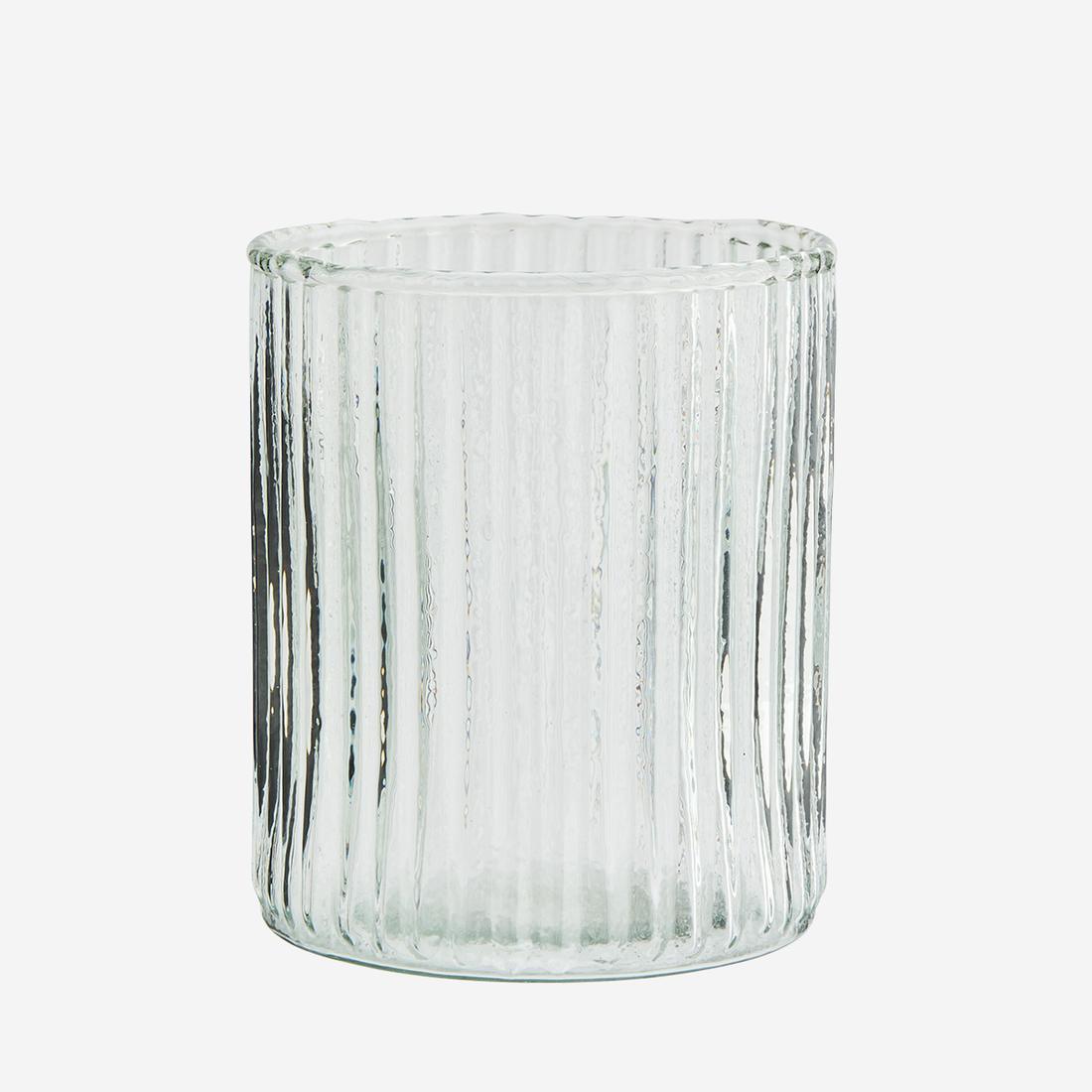 Trinkglas mit Rillen