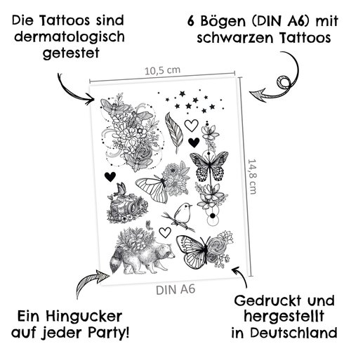 Spielzeug 3 Tattoos zum Aufkleben