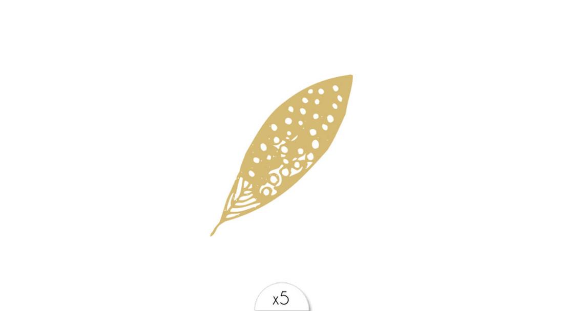 Sioou Tattoo Feder gold