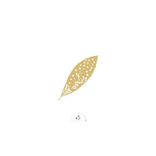Tattoo Feder gold