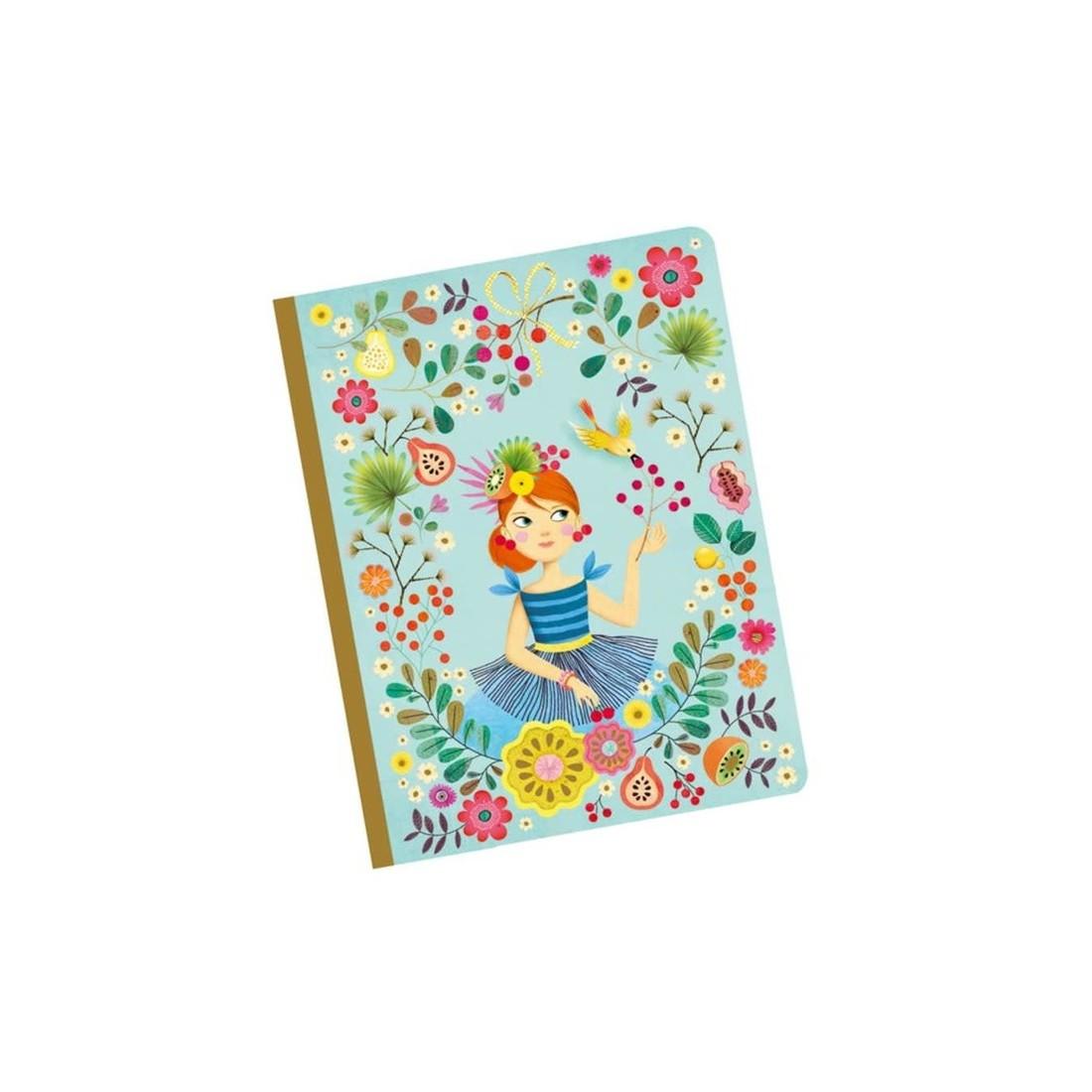 Djeco Notizbuch Rose A5
