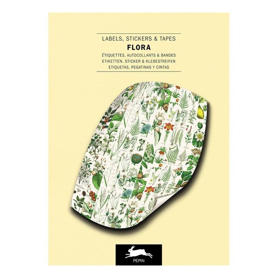 Pepin Label & Sticker Book - Flora