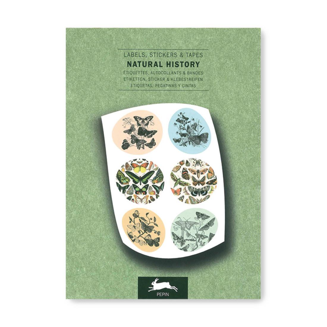 Pepin Label & Sticker Book - Natural History
