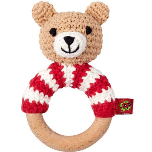 Häkel Ringrassel Teddy