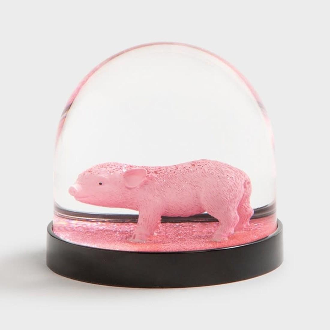 & klevering Schneekugel Schwein