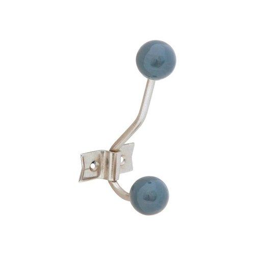 Tranquillo Garderobenhaken blau/grau