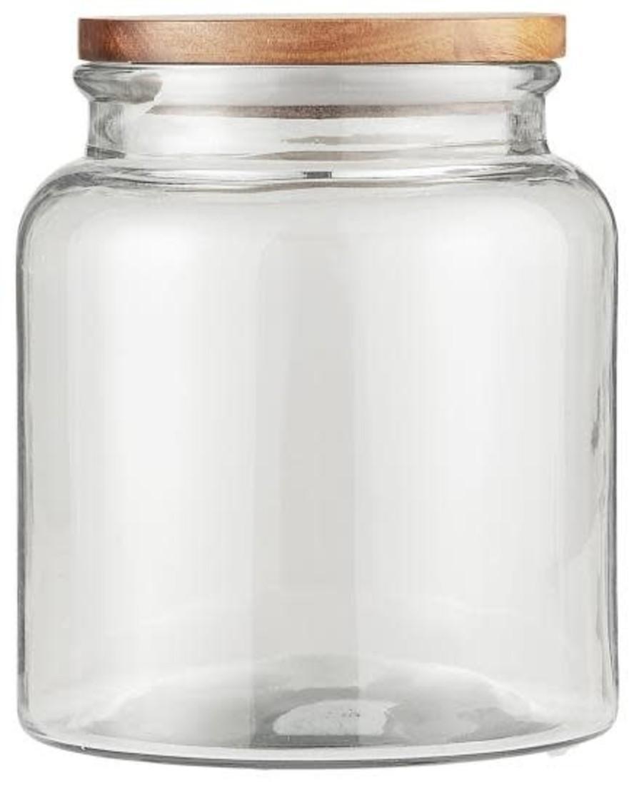 Glas mit Holzdeckel