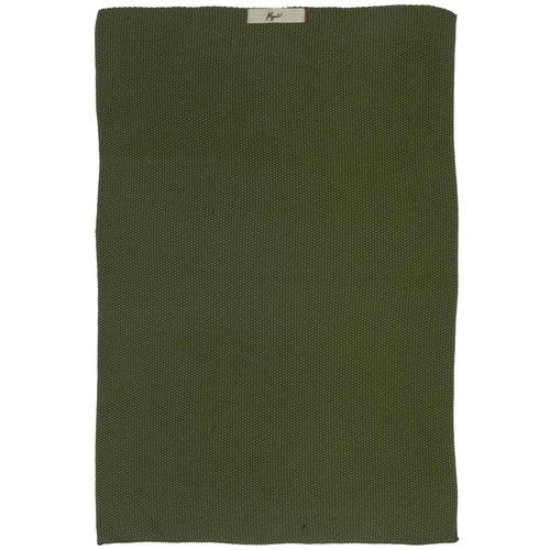 Handtuch «Mynte» dunkelgrün gestrickt