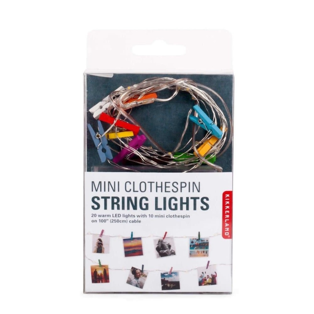 Lichterkette mit Klammern