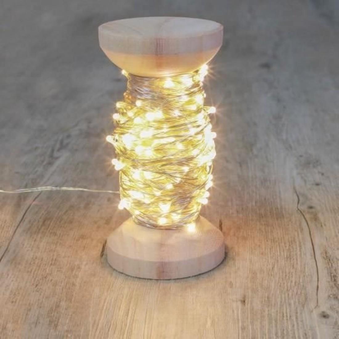 Sky Lantern Lichterkette silber auf Bobbine