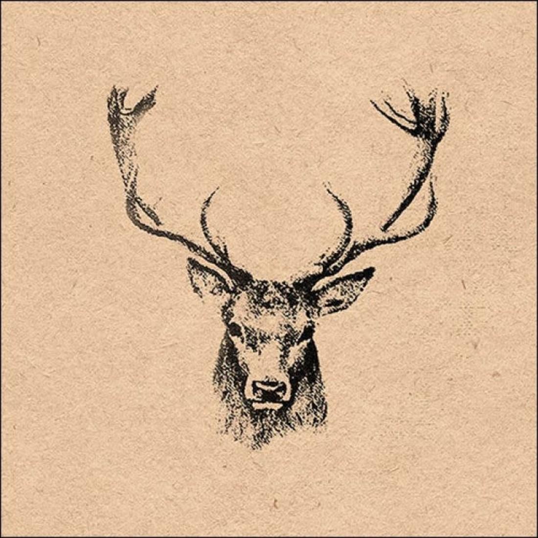 Napkin Deer Head