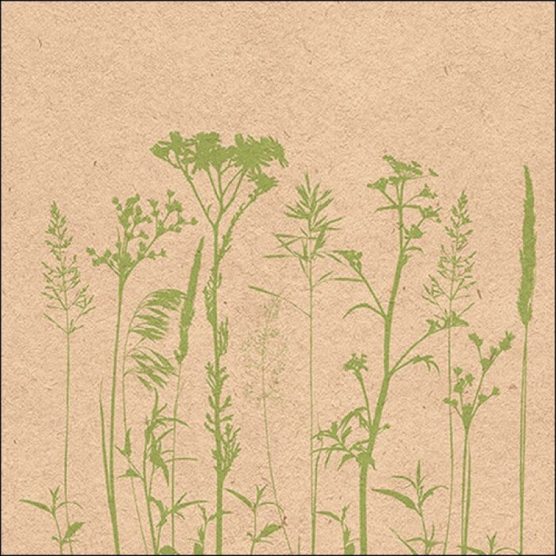 Napkin Herb & Flowers green