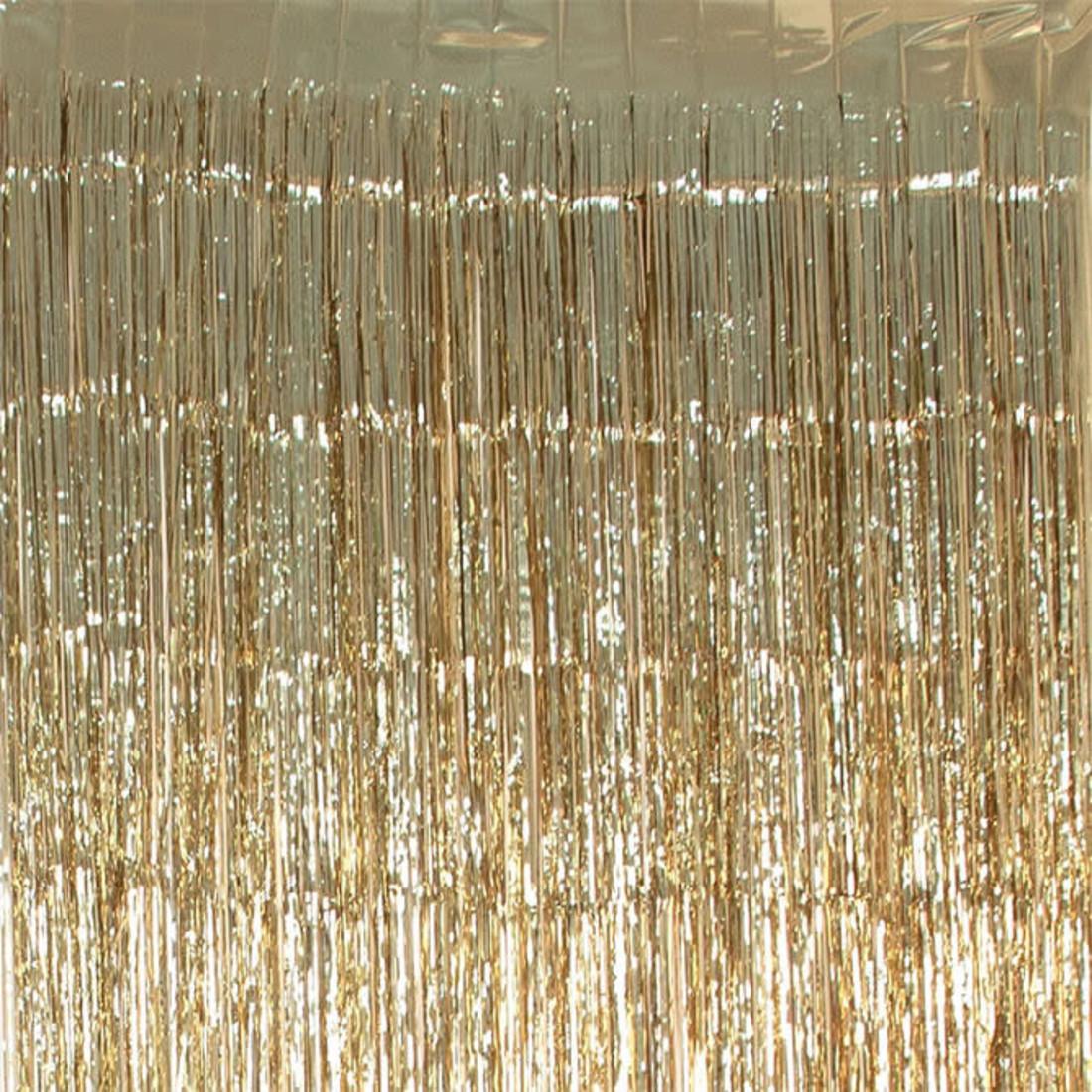 Folienvorhang gold