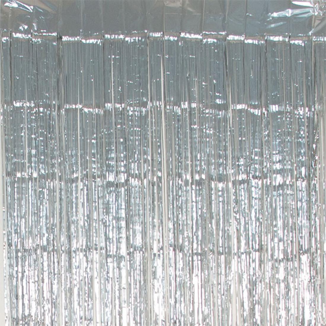 Folienvorhang silber