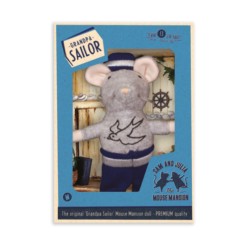 Het Muizenhuis Maus Puppe Opa «Sailor»