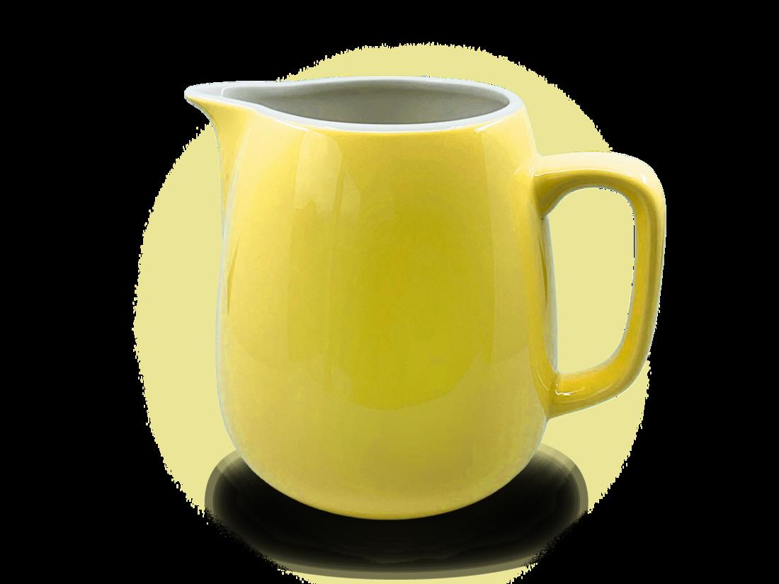 Rössler Porzellan Milchkrug 60s «Revilval» gelb