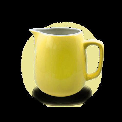 Rössler Porzellan Milchkrug 60s «Revival» gelb