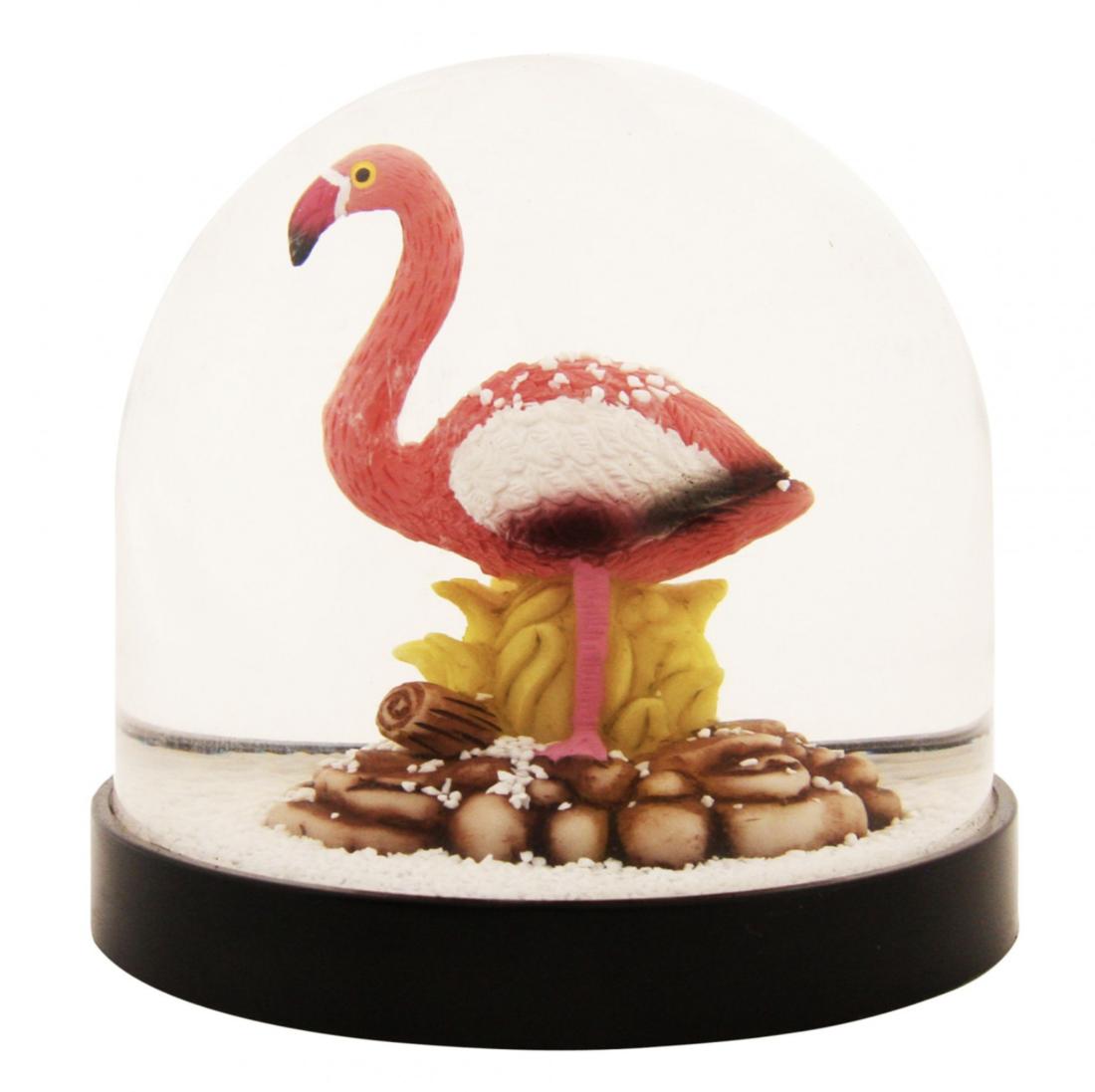 & klevering Schneekugel Flamingo