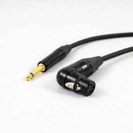 Jack - XLR female haaks kabel, verguld
