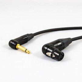 Jack haaks - XLR female haaks kabel, verguld