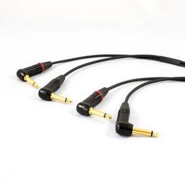 Jack haaks - jack haaks kabel, dubbel, vergulde connectoren