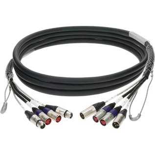 Combikabel, 2x cat ethercon + 2x audio XLR