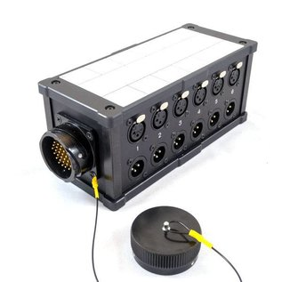 LK37 stagebox met LK37 in/uit en 12 XLR in/uit