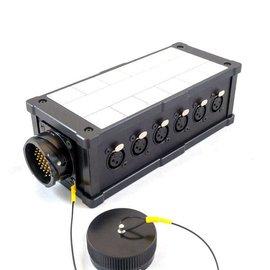 LK37 stagebox met LK37 in/uit en 12x XLR in
