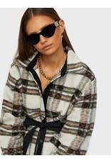 LONG CHECK DRESS/COAT