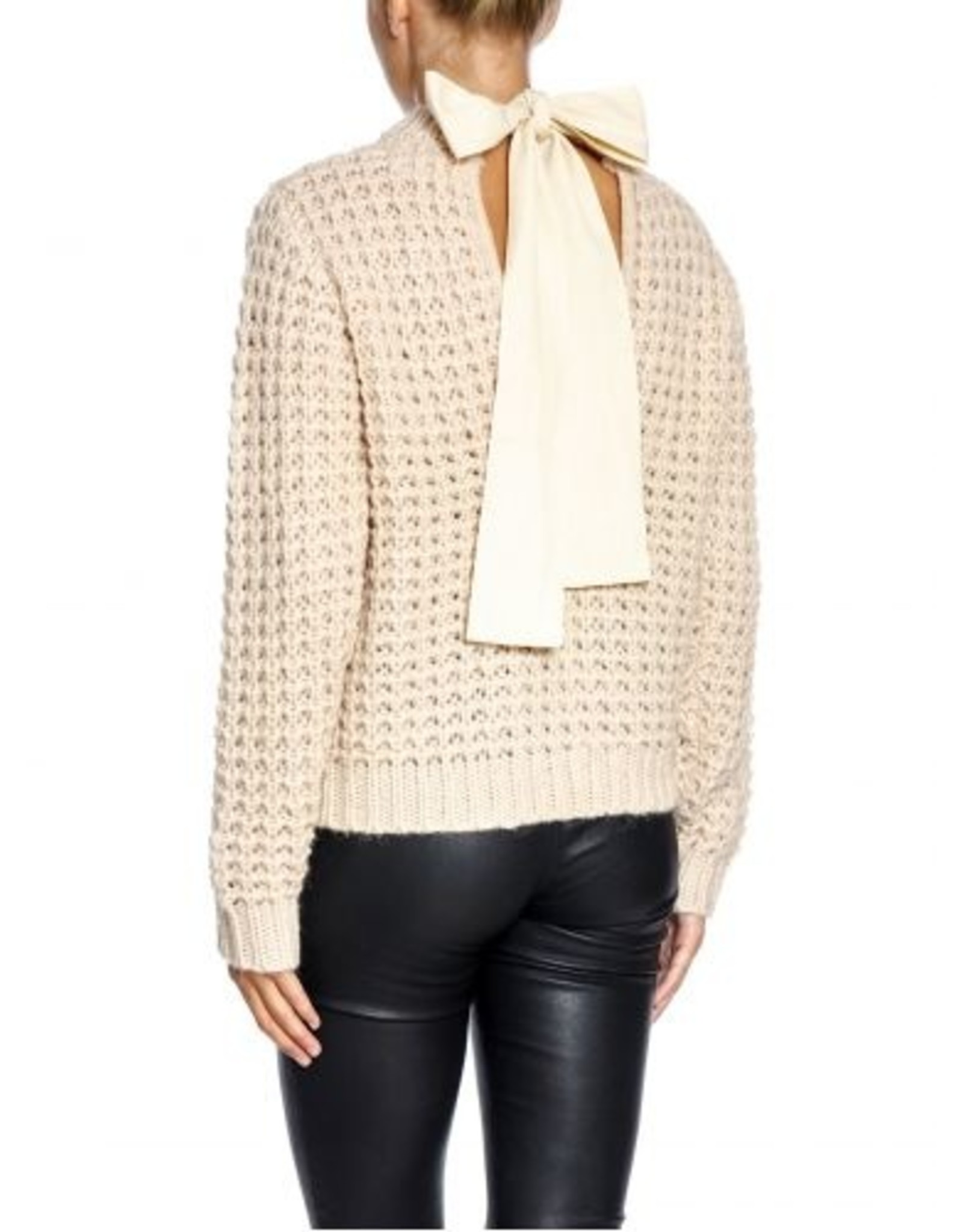 OATMEAL KNIT WITH BOW