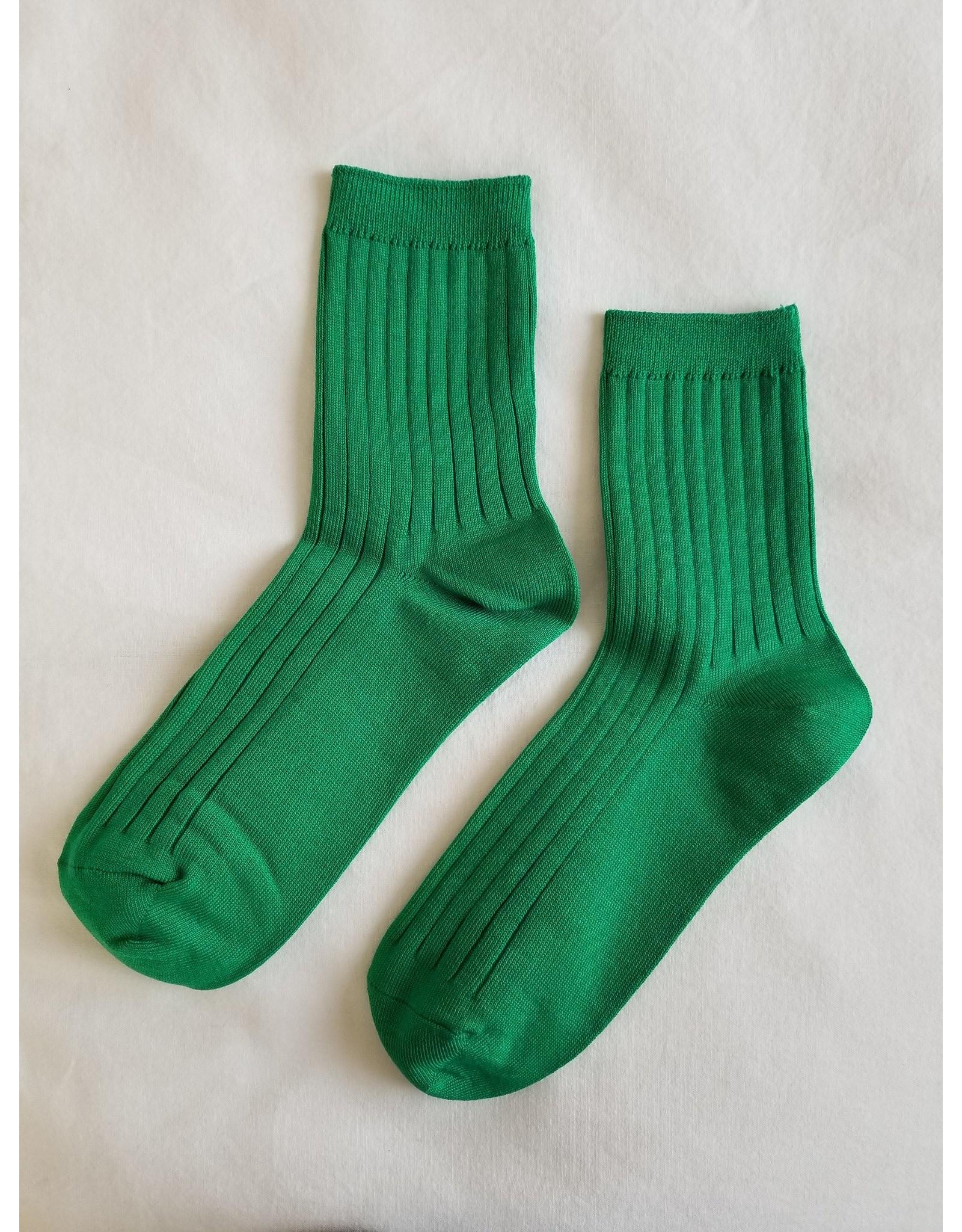 COTTON SOCKS KELLY GREEN