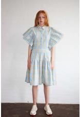 CHECK DRESS PASTEL MIX