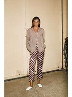 PRINTED SILKY TROUSERS