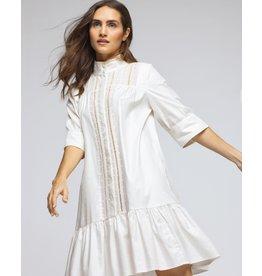 SHORT DRESS ECRU